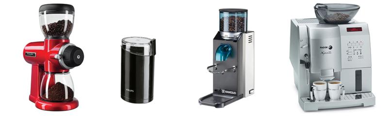Виды кофемолок