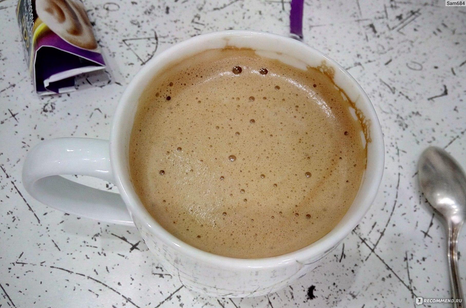 ванильный капучино на основе растворимого кофе