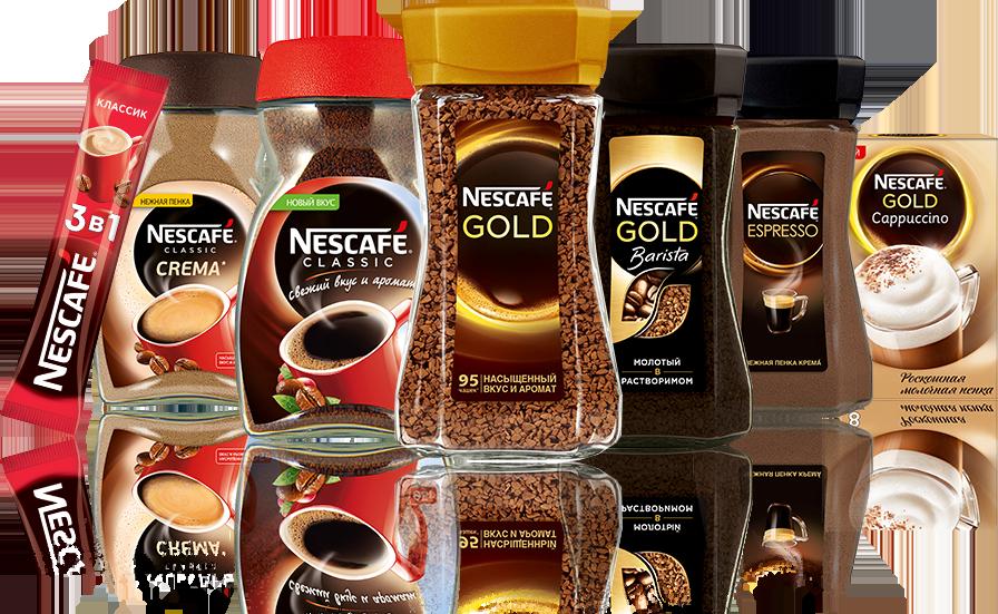 ассортимент кофе нескафе